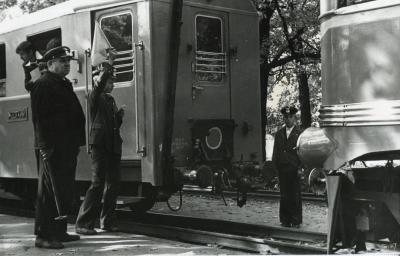 Прицепка локомотива на ст. Парк
