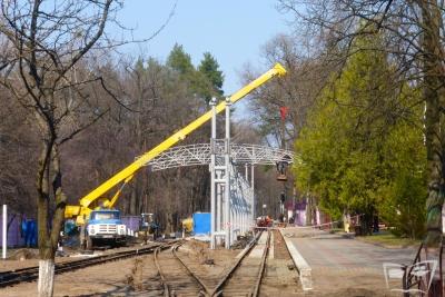 Реконструкция путей и строительство навеса на ст. Парк