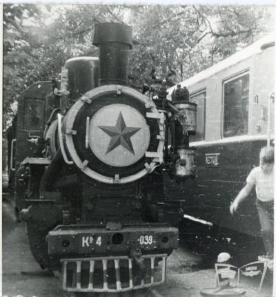 Паровоз Кв4-039 в тупике на станции Парк