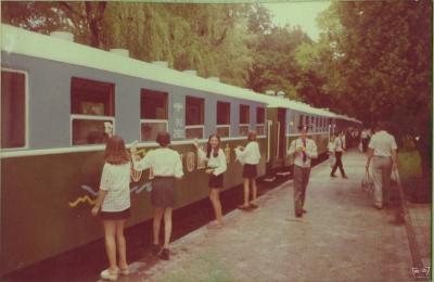 Уборка вагонов перед праздником