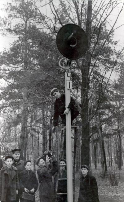 Установка светофора на ст. Парк