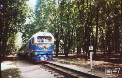 ТУ2-054 с поездом