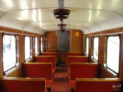 Салон вагона ПВ40 состава 'Юность Южной'