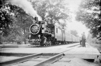 Паровоз Кв4-039 с составом на ст. Парк