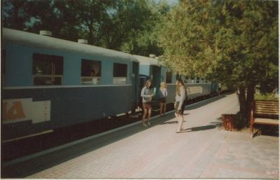 Проводники возле вагонов