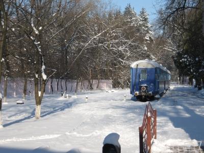 Три вагона состава 'Украина' в ожидании отправки на завод