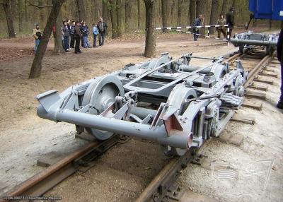 Тележки вагона 'Pafawag'. Выгрузка вагона состава 'Украина' после капитального ремонта