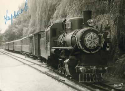 Кв4-039 с составом в тупике на ст. Парк