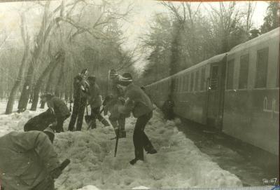 Уборка снега на ст. Парк