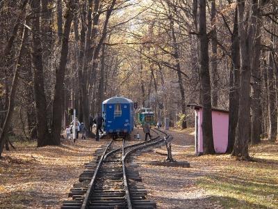 Станция Лесопарк осенью