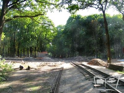 Строительство переезда возле ст. Парк