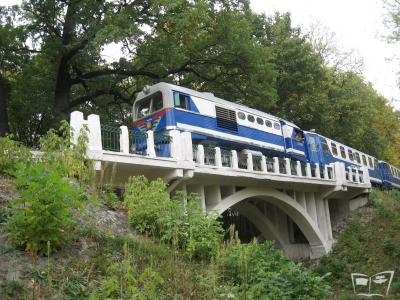 ТУ2-054 с поездом на Белом мосту