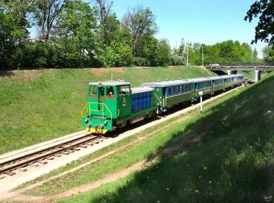 ТУ7А-3198 с составом 'Юность Южной' на перегоне