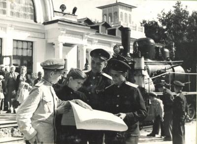 Юные железнодорожники Малой Сталинградской на Малой Южной