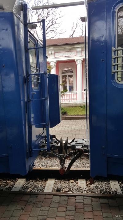 Лестница на вагоне состава 'Украина'