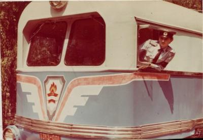 Юный машинист в кабине тепловоза ТЭУ3-001