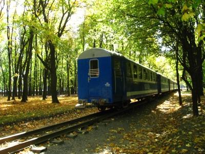 Поезд 'Украина' прибывает на ст. Парк