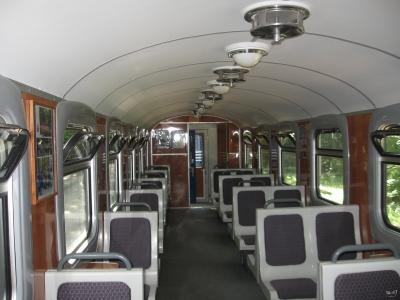 Интерьер модернизированного вагона Pafawag