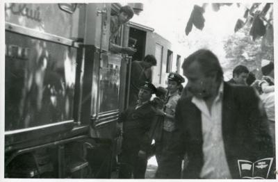 ТЭУ3-001 с поездом на ст. Парк