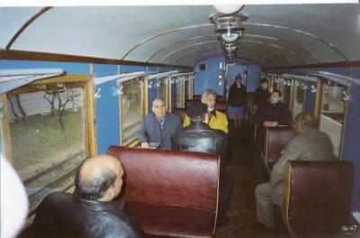 Делегация из Египта в вагоне №3 состава 'Украина'