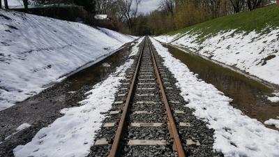 Перегон в тающем снегу