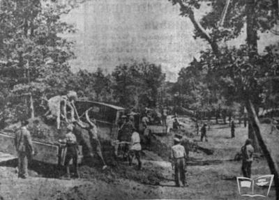 Земляные работы на трассе будущей ДЖД, участок Коминтерновского района