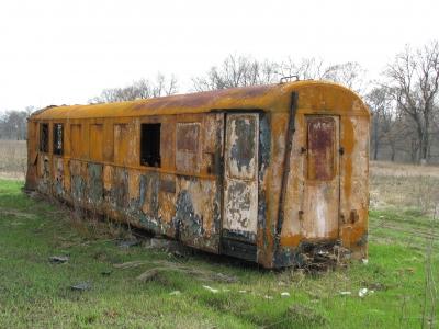 Заброшенный вагон состава 'Пионерский'