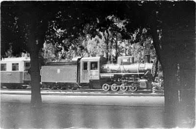 Паровоз Кв4-039 с составом 'Пионерский' в тупике на ст. Парк
